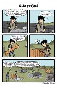 side projects comics
