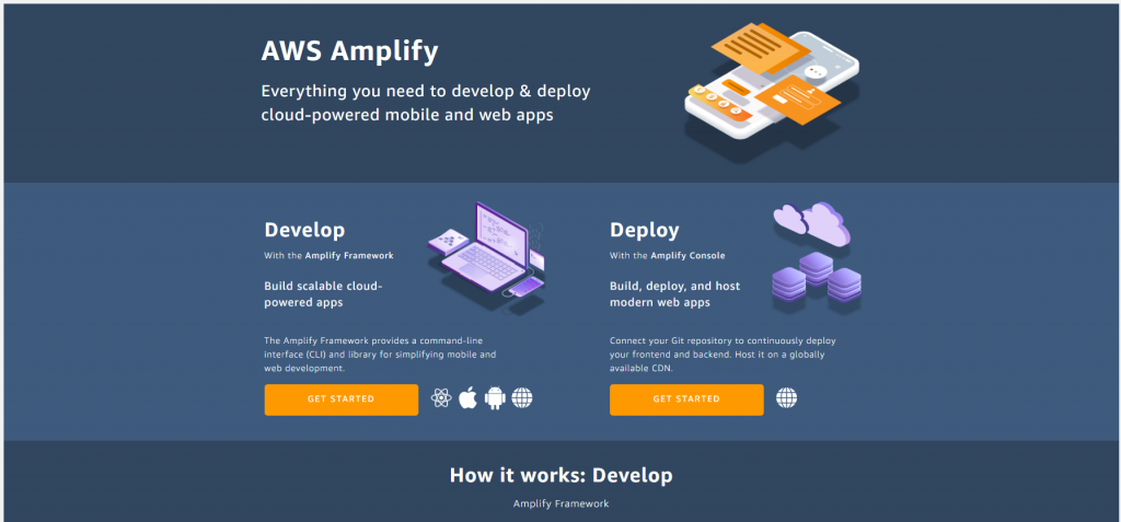 AWS Amplify service page