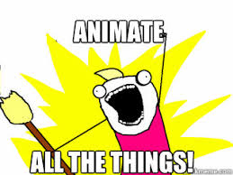 Animate All the things! - All The Things - quickmeme